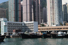 Aberdeen tyfonskydd Hong Kong Royaltyfri Fotografi