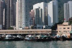Aberdeen tyfonskydd Hong Kong Royaltyfria Foton