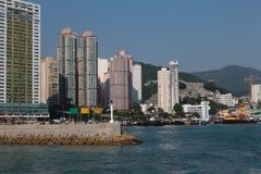 Aberdeen tyfonskydd Hong Kong Arkivfoton