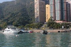 Aberdeen tyfonskydd Hong Kong Arkivbilder