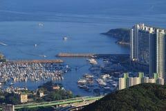 Aberdeen tyfonskydd i Hong Kong Arkivbilder