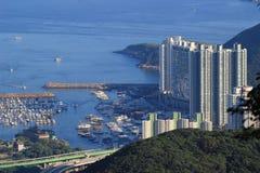 Aberdeen tyfonskydd i Hong Kong Arkivbild