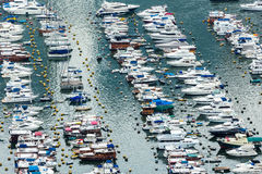 Aberdeen typhoon shelter in Hong Kong Royalty Free Stock Photo