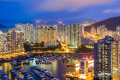 Aberdeen typhoon shelter in Hong Kong Royalty Free Stock Image
