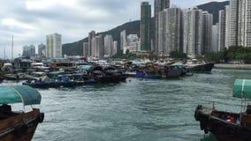 Aberdeen Typhoon Shelter timelapse, Hongkong Skyline