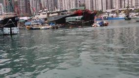 Aberdeen Typhoon Shelter video, Hongkong Skyline