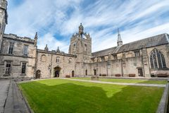 Aberdeen University King`s College building. This is the oldest. ABERDEEN,SCOTLAND,17 JUNE 2018-Aberdeen University King`s College building captured on a royalty free stock images