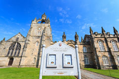 Aberdeen University King's College building. This is the oldest university in Aberdeen. Stock Photography