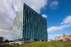 Aberdeen Uniwersytecki Sir Duncan Rice Biblioteka, Aberdeenshire, Szkocja zdjęcia stock