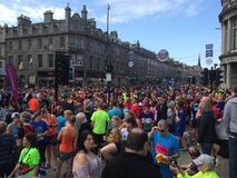 Aberdeen Wielkiego bieg Przyrodni Maratoński tłum Zdjęcie Stock