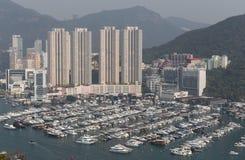 Aberdeenen Marina Club, Hong Kong arkivbilder