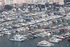 Aberdeenen Marina Club, Hong Kong royaltyfri fotografi