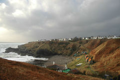 Aberdeenshire Village and Bay Stock Photo