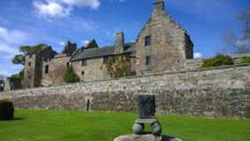 Aberdour slott Arkivfoto