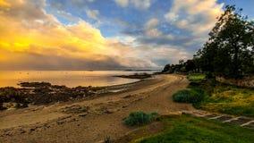 Aberdour strand Royaltyfri Foto