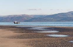 Aberdovey Beach and Sea Stock Image