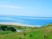 Aberdovey havssikt Arkivbild