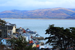 Aberdovey på den mitt- Wales kusten Arkivbild