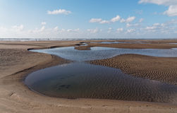 Aberdovey strand och hav Royaltyfri Bild
