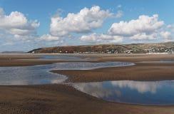 Aberdovey strand och hav Arkivfoton