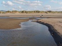 Aberdovey strand och hav Royaltyfria Foton