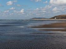 Aberdovey strand och hav Arkivbilder