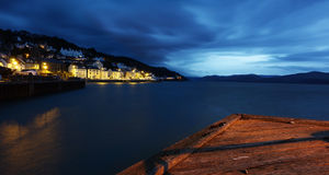 Aberdovey village at night stock images