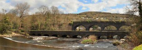 Aberdulais aquaduct in Wales stock photo