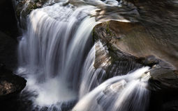 Aberdulais Tin Works Waterfall Arkivfoto