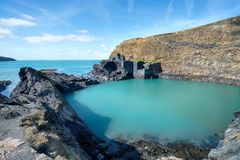 Abereiddy på den Pembrokeshire kusten Royaltyfri Fotografi