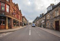 Aberfeldy gata, Skottland Royaltyfria Bilder