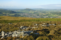 Abergavenny from Blorenge Stock Images