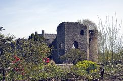 Abergavenny Castle Stock Photo