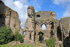 Abergavenny slott, Wales Arkivfoton