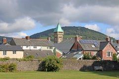 Abergavenny Wales Arkivbild