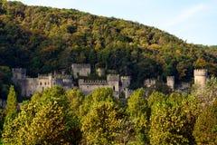 ABERGELE CONWY/WALES - OKTOBER 7: Sikt av den Gwrych slotten i Abe Royaltyfri Bild