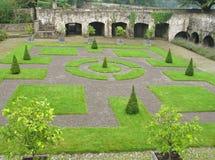 aberglasney修道院庭院英国威尔士 免版税库存照片
