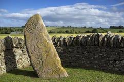 Aberlemno Pictish sten, Skottland Royaltyfria Foton
