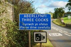 Aberllynfi/tres gallos, Powys, País de Gales, Reino Unido fotografía de archivo libre de regalías