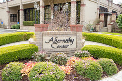 Abernethy Center and Chapel in Oregon. OREGON CITY, OR - APRIL 9, 2017: Abernethy Center, a very popular wedding venue in the Portland metro area Stock Image