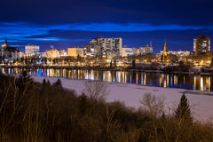 aberracj ujawnień hdr różnego w centrum wizerunku chromatyczna łączy tworząca nieuchronna mniejszościowa noc przetwarza Saskatoon Zdjęcie Royalty Free