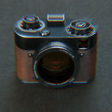 Aberration stylization old vintage photo camera 3d render Royalty Free Stock Photography