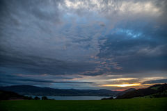 Abersee from above royalty free stock photo