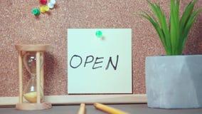 aberto Fundo bem sucedido do negócio e da comunicação vídeos de arquivo