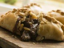 Aberto quebrado tradicional do pastel Cornish Foto de Stock Royalty Free