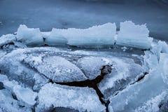 Aberto rachado gelo Fotos de Stock Royalty Free