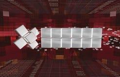 abertura 3-D da notícia no vermelho. Foto de Stock Royalty Free