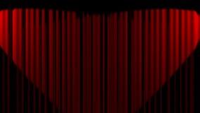 Abertura da cortina do cinema