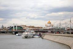 Abertura da estação da navegação em Moscou Fotografia de Stock Royalty Free