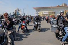 Abertura da estação da motocicleta fotografia de stock